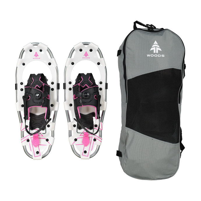 Woods All-Terrain Snowshoes Lightweight Aluminum Frame 21 Inch, 150 lb Capacity, with Carry Bag