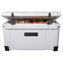 Load image into Gallery viewer, Woods Arctic White Super King Cooler 75 Quart Roto-Molded