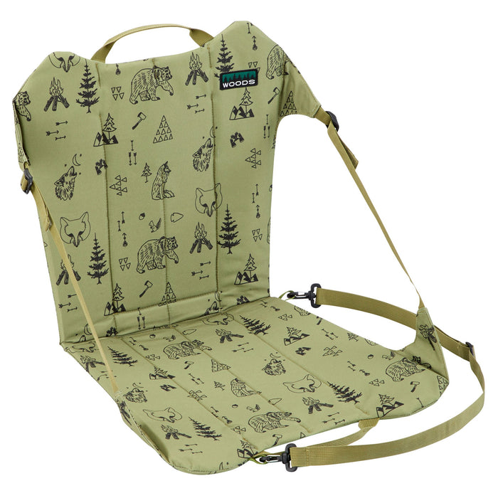 Woods Backpacker Folding Camping Chair - Green