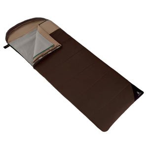 Woods Fernie Camping Sleeping Bag: 7 Degree - Brown