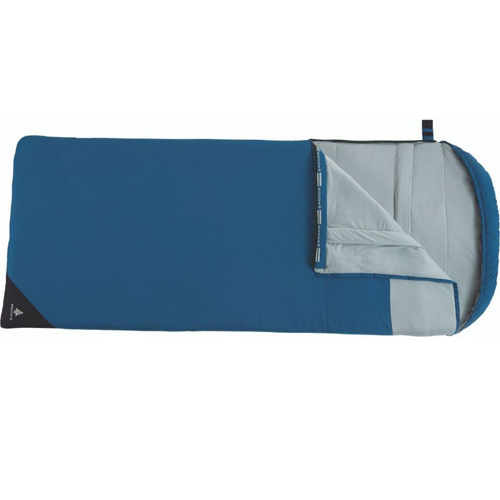 Woods Fernie Camping Sleeping Bag: 41 Degree - Blue