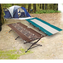 Load image into Gallery viewer, Woods King Portable Folding Extra Wide Comfort Camping Cot - Camouflage