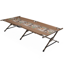 Load image into Gallery viewer, Woods King Portable Folding Extra Wide Camping Cot - Camouflage