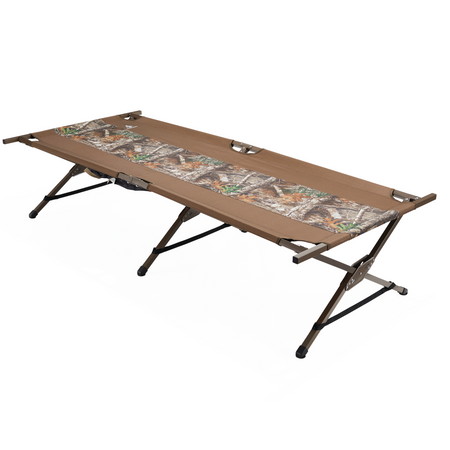key features Woods King Portable Folding Extra Wide Comfort Camping Cot - Camouflage