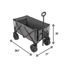Load image into Gallery viewer, Woods Outdoor Collapsible Utility King Wagon - 225 lbs Capacity - Gray