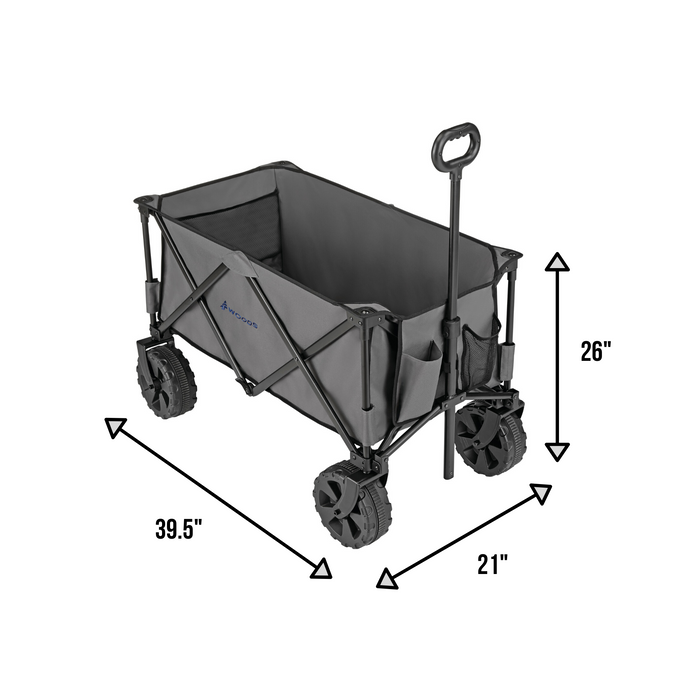 Woods Outdoor Collapsible Utility King Wagon - 225 lbs Capacity - Gray