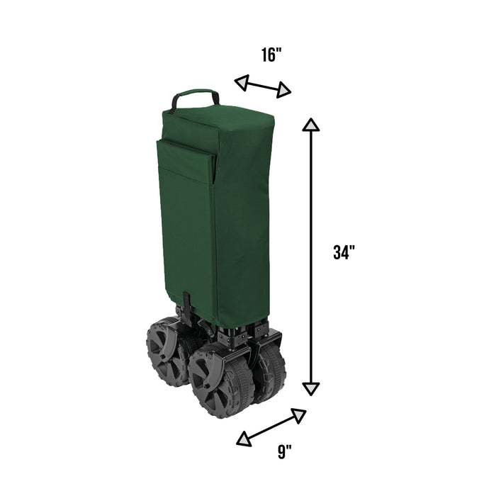 Woods Outdoor Collapsible Utility King Wagon - 225 lbs Capacity - Green
