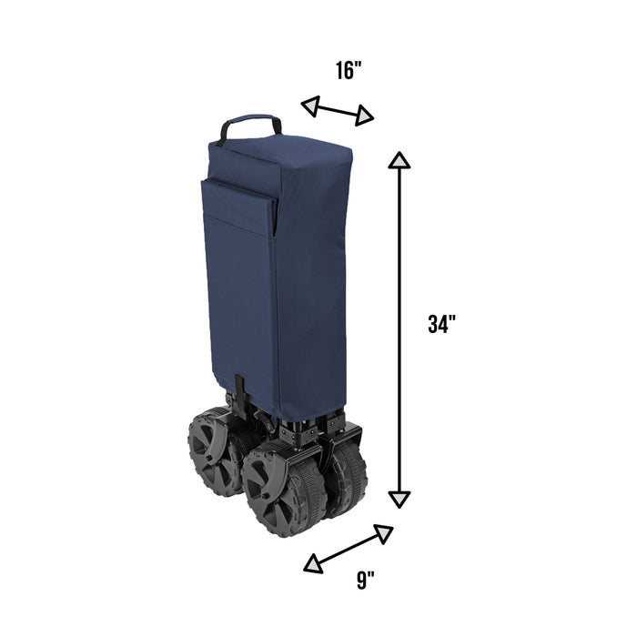 Woods Outdoor Collapsible Utility King Wagon - 225 lbs Capacity - Navy