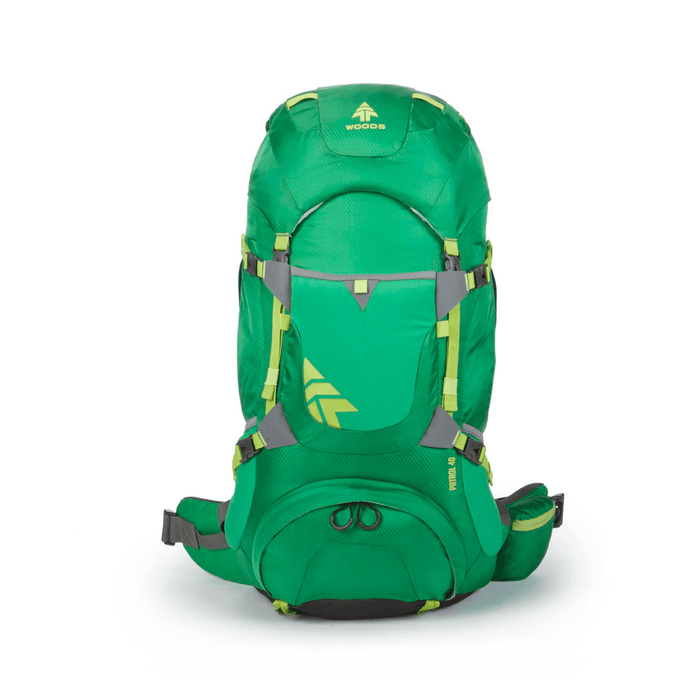 Woods Patrol 40L Lightweight Packable Camping Backpack / Daypack - Green