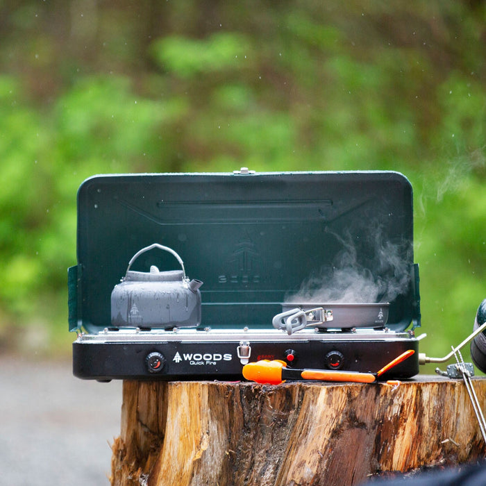 Woods Portable Propane Camping Stove With 2 Burners