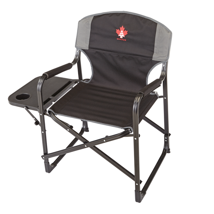 Woods Prospector Aluminum Chair with Table - Black