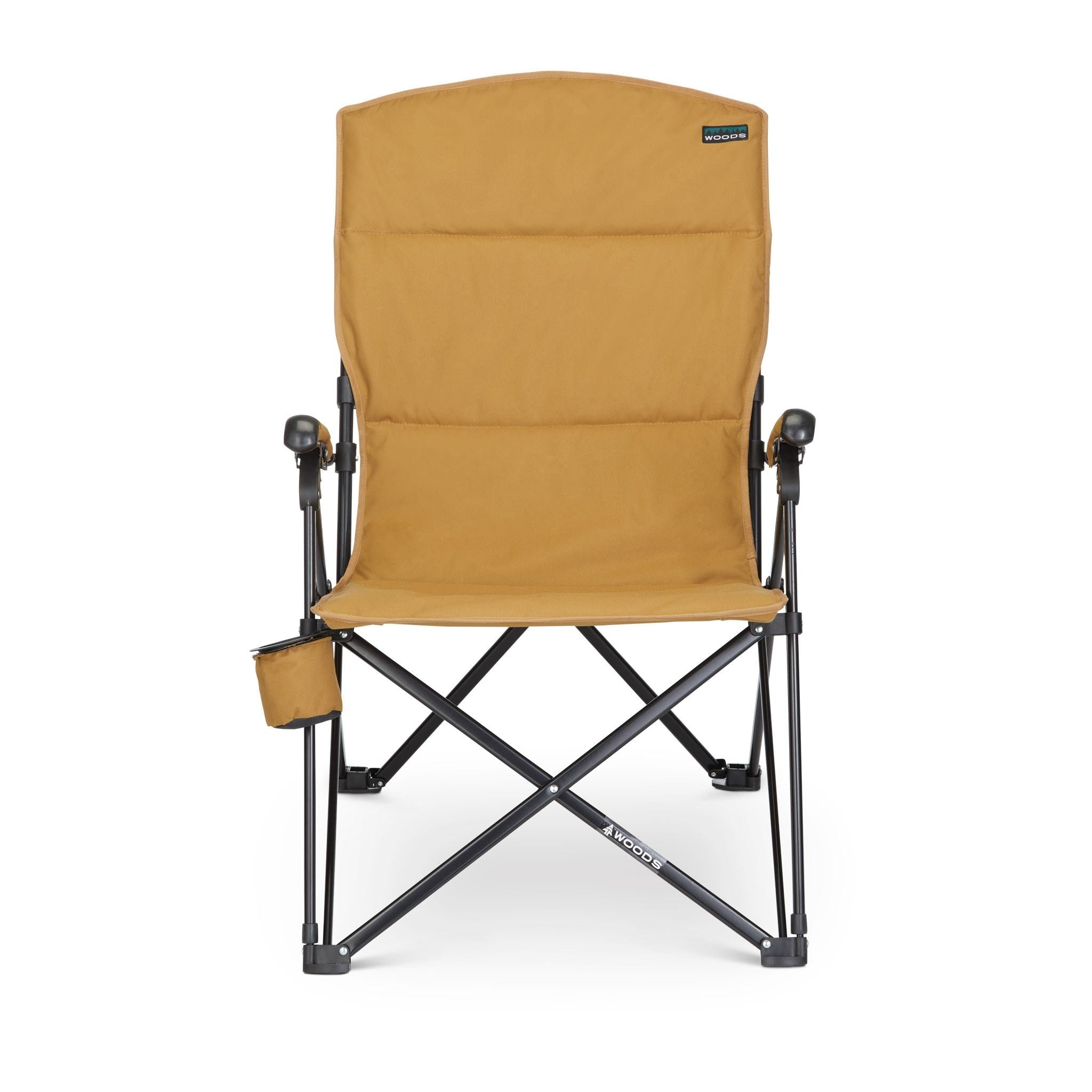 Woods Siesta Folding Reclining Padded Camping Chair Tan