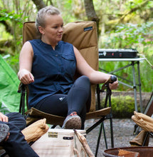Load image into Gallery viewer, Woods Folding Reclining Padded Camping Chair