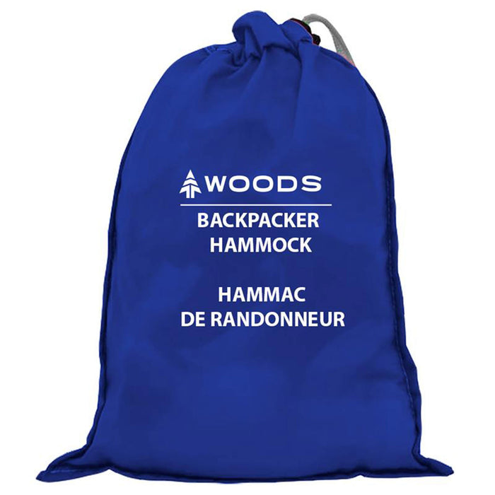 Woods Single Backpacker Camping Hammock with Tree Straps