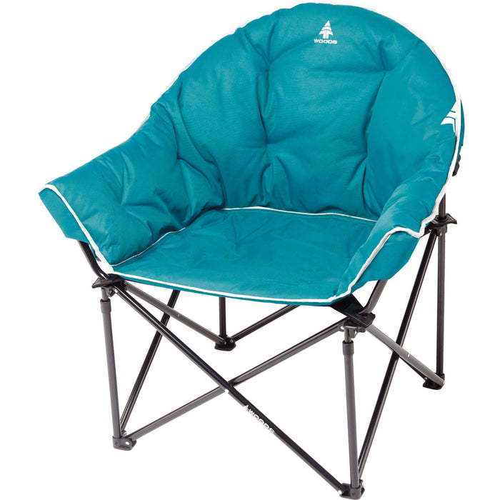 Woods Strathcona Fully Padded Folding Camping Bucket Chair - Teal