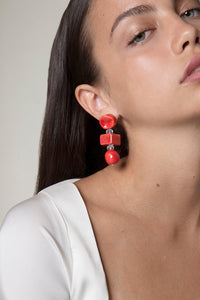 Yuma linked beads earrings