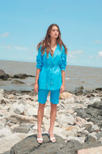 Load image into Gallery viewer, Carmelo linen blazer - Ocean blue