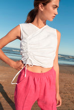 Load image into Gallery viewer, Garzon linen pants - Fuchsia