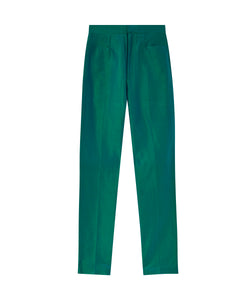 Armadillo trousers in silk shantung - Green