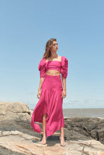 Load image into Gallery viewer, Solari linen skirt - fuchsia