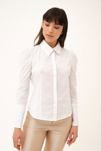 Saga cotton blouse - White
