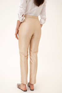 Armadillo trousers in silk shantung - Sand