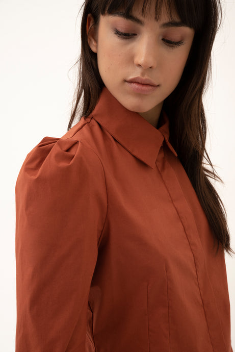 Saga cotton blouse - Rust