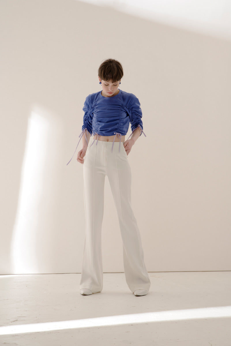 Huella cropped blouse