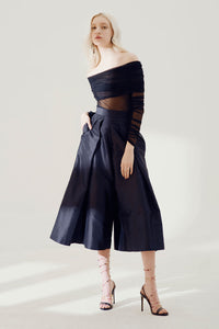 Helge wide legged trousers - Black