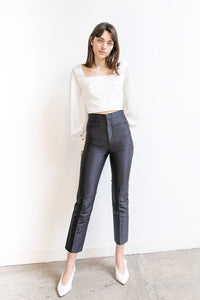 Armadillo trousers in silk shantung - Black