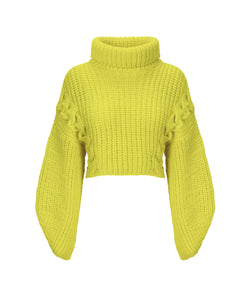 Quebracho jumper in extra fine Merino wool - Lime