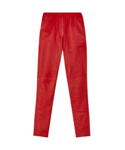 Load image into Gallery viewer, Yatay relaxed leather trousers - Red