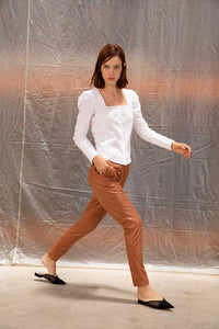Yatay relaxed leather trousers - Tan