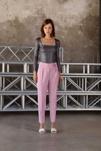 Ulla wool trousers - Rose Quartz
