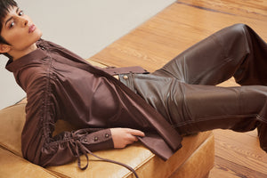 Henrik leather trousers