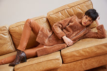 Load image into Gallery viewer, Yatay relaxed leather trousers - Tan