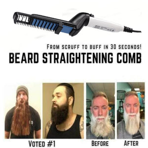 Electric Multifunctional Quick Beard Straightener Styler Comb-beard care-Hairocracy