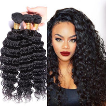 Load image into Gallery viewer, Hairocracy Mink Superior Deepwave Human Hair Extension Weave - Virgin Remy-Hair Extensions-Hairocracy