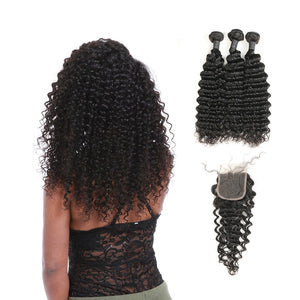 Hairocracy Premium Deepwave Human Hair Extension Weave - Virgin Remy-Hair Extensions-Hairocracy