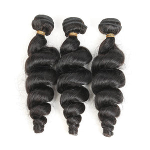 Hairocracy Premium Loose Wave Human Hair Extension Weave - Virgin Remy-Hair Extensions-Hairocracy