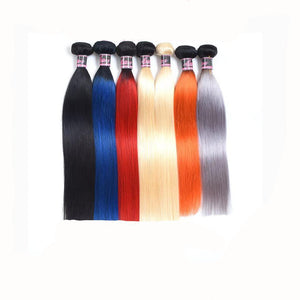 Hairocracy Premium Ombre Straight Hair Bundles Red/Blue/Grey/Orange and more