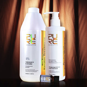 Brazilian 8% Keratin treatment with 300ml purifying shampoo and Pure Argan Oil-Hair Care & Styling-Hairocracy