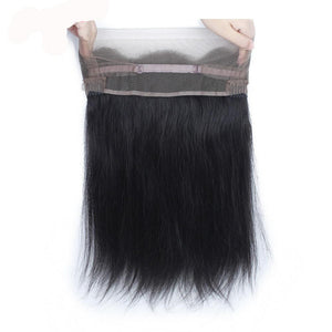 Hairocracy Straight Remy Virgin 360 Lace Closure Hair Extension Weave-closures-Hairocracy