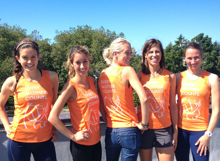 Oiselle Team Models the EMC Singlet