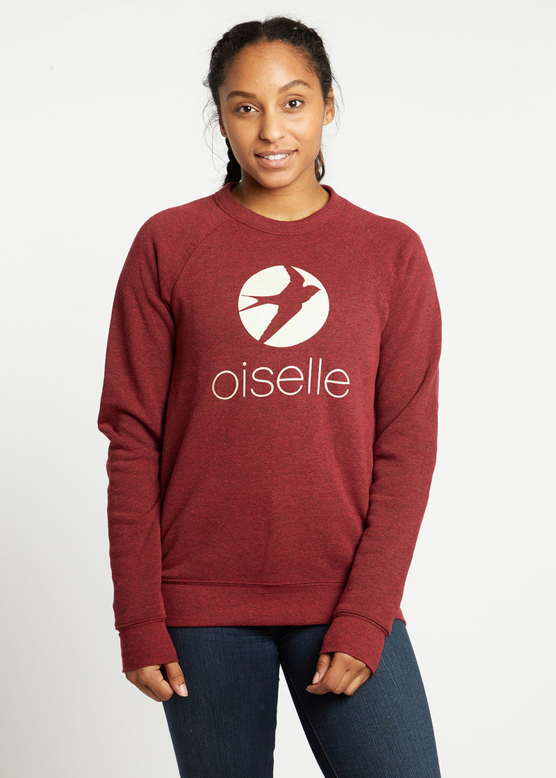 Model : Chloe - Size SM, Chloe is 5'8 | PRIMARY | CRIMSON HEATHER