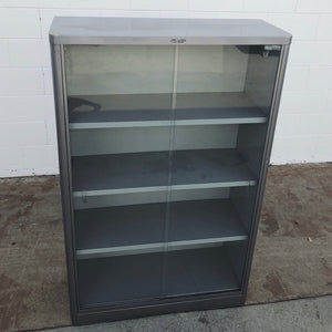 McDowell & Craig Vintage Tanker Bookcase w/ Sliding Glass Doors