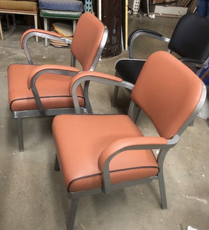 McDowell & Craig Guest Chair - Orange and Black
