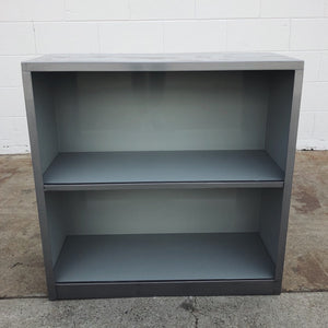 2 level metal bookcase