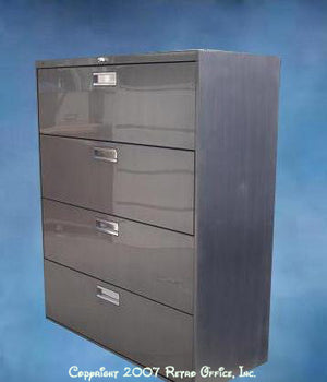 Vintage Steel Lateral File Cabinet
