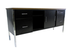 Steelcase Chrome Leg Storage Credenza